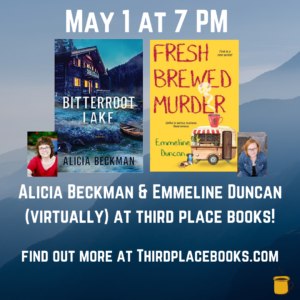Alicia Beckman and Emmeline Duncan will be at Third Place Books on May 1st.
